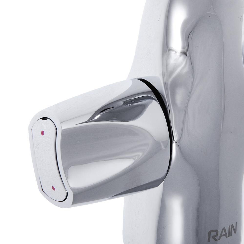 """Смеситель для раковины, с донным клапаном, шпилька, латунь, """"Фианит"""" RAIN"""