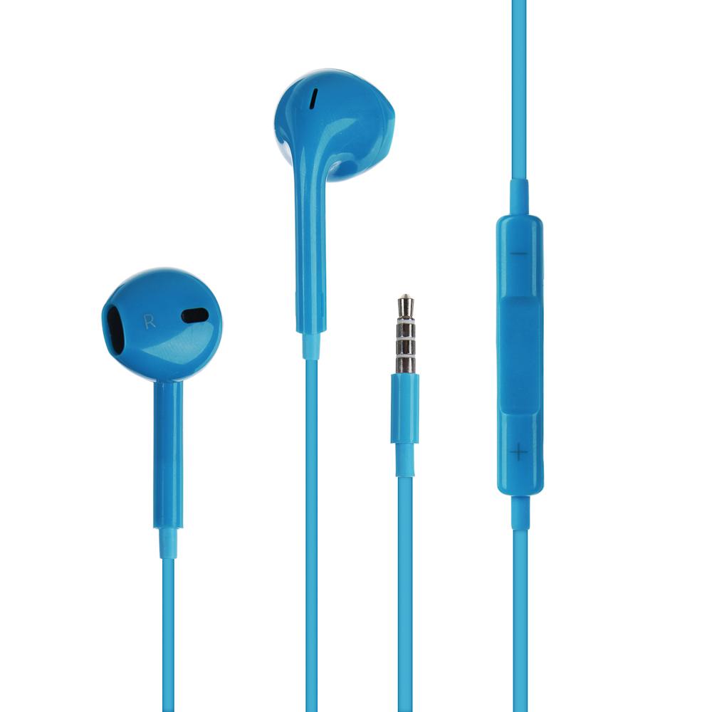 Наушники вкладыши FORZA с гарнитурой, пластиковый бокс, 4 цвета