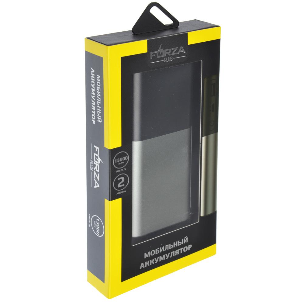 FORZA Аккумулятор мобильный 13000 мАч, 2А, темно-серый