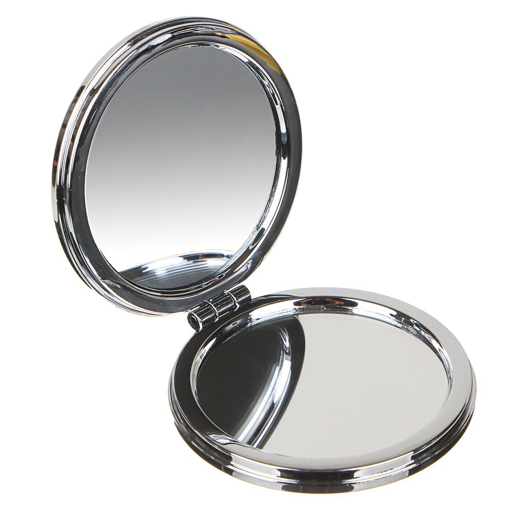 Зеркало карманное с глиттером ЮниLook, d.7 см, 4 цвета