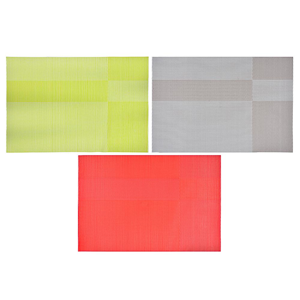 """Салфетка сервировочная ПВХ, 30x45см, 3 цвета, """"Уют"""""""