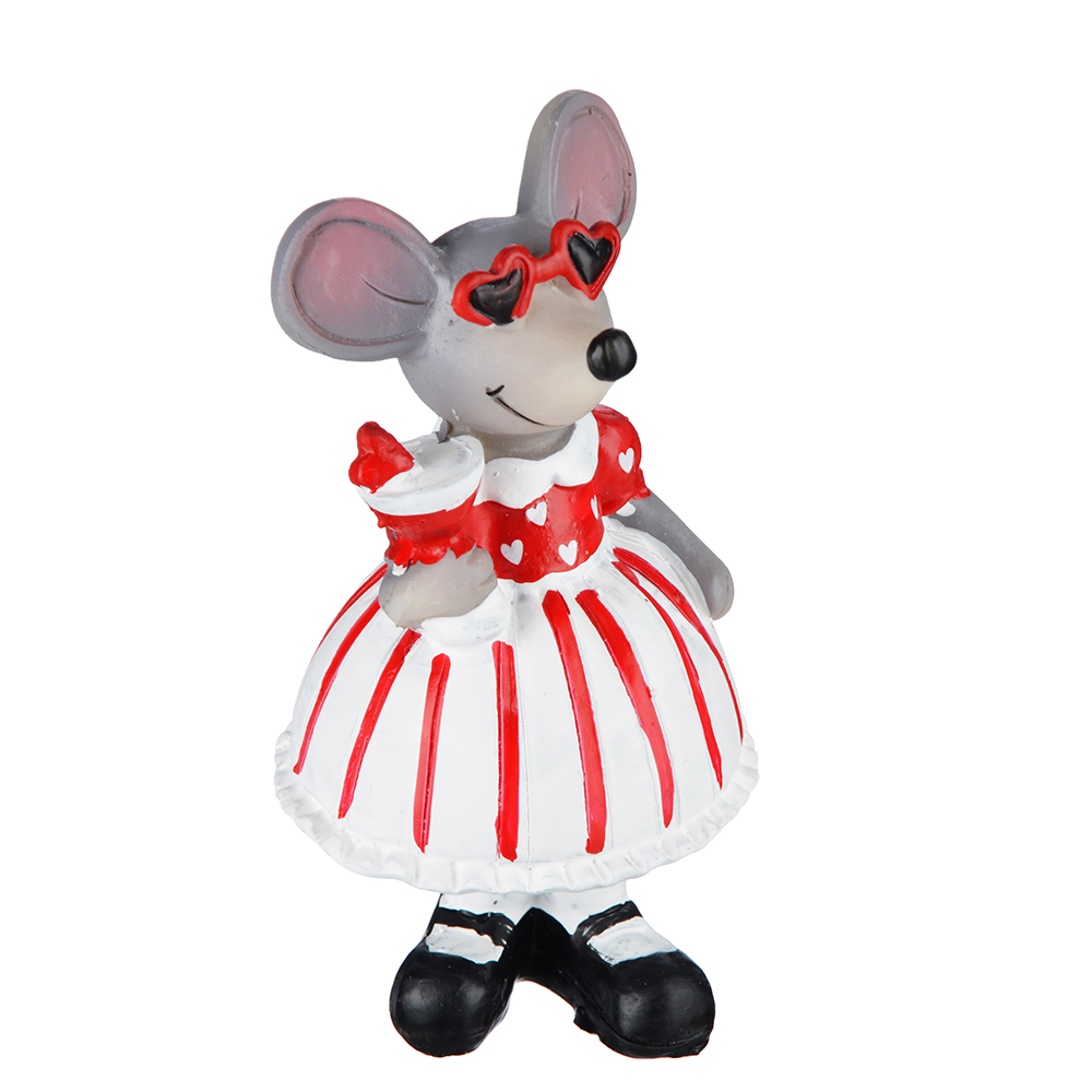 "Фигурка, полирезина, 7х6х12,5см, MILLIMI ""Маленькая мышка"""