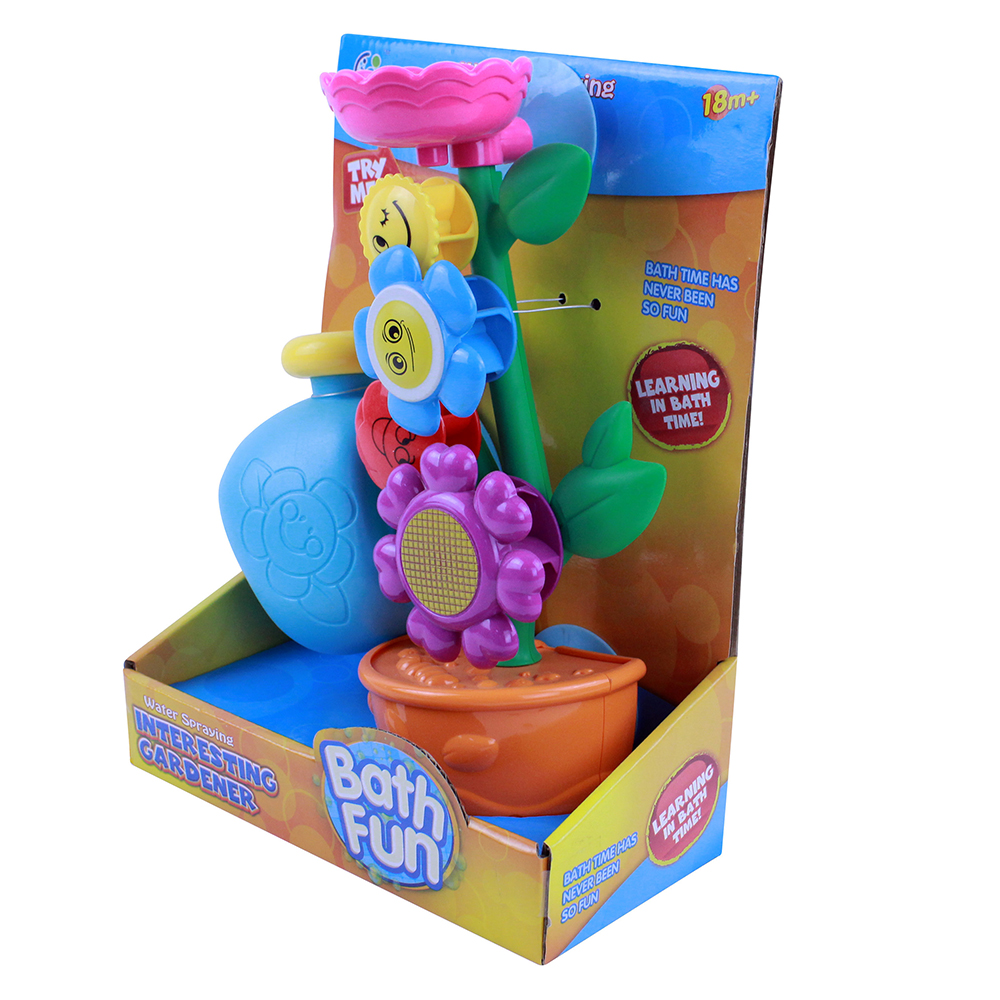 Игрушка для ванной цветок, пластик, 16х60х12/15х49х15см, 2 дизайна