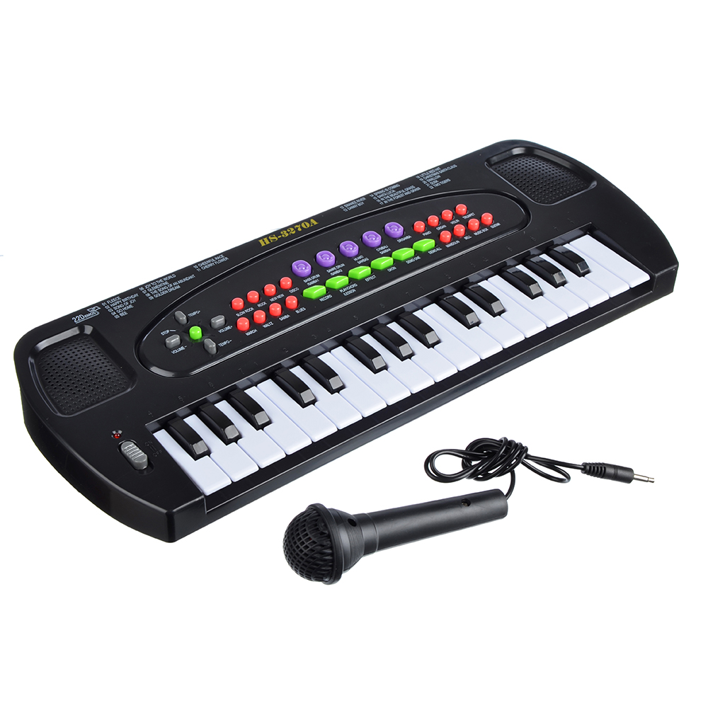 Синтезатор, 32 клавиши, микрофон в комплекте, бат. ЗАА, 44х17х5см