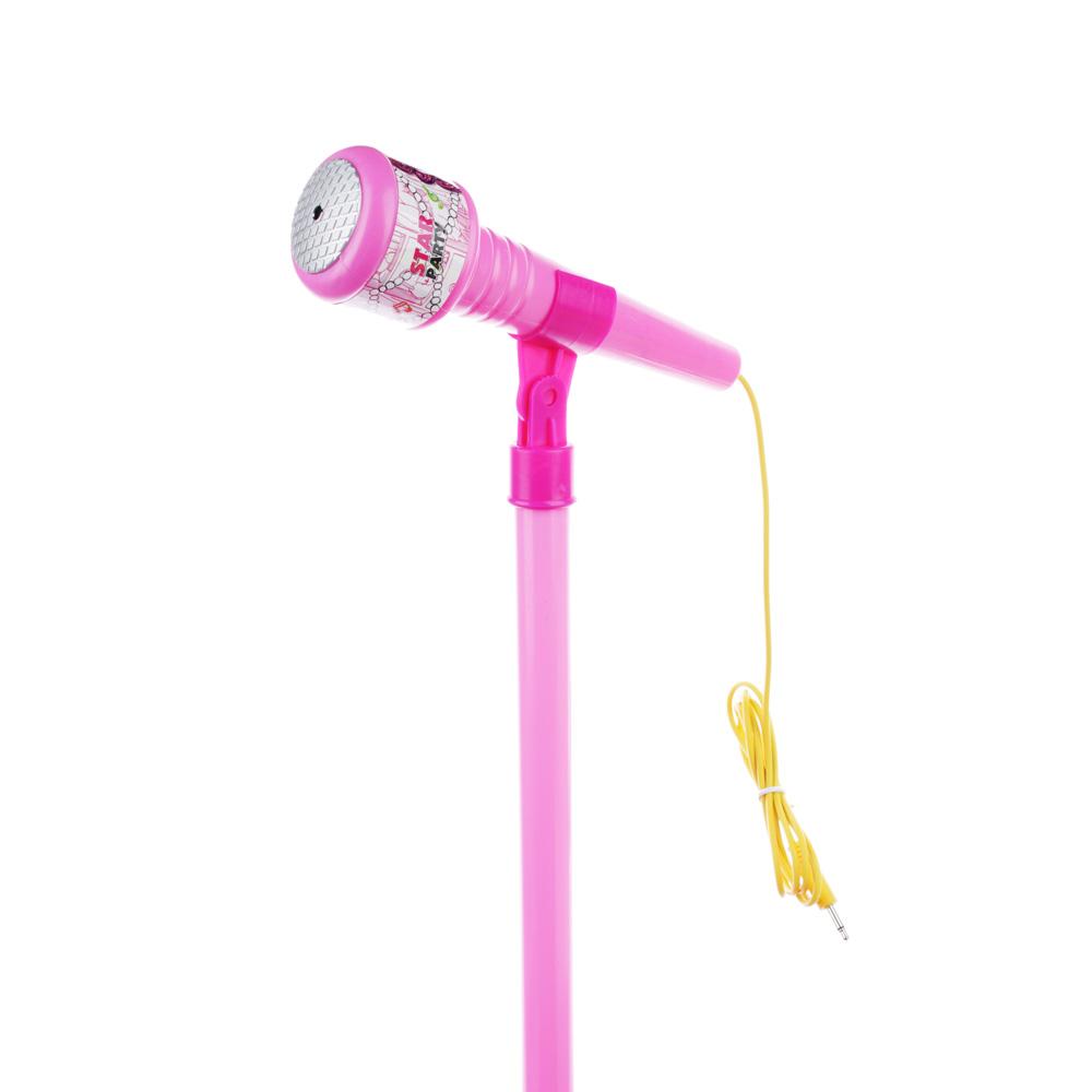 Микрофон на стойке, МР3, USB , пластик, 72 см