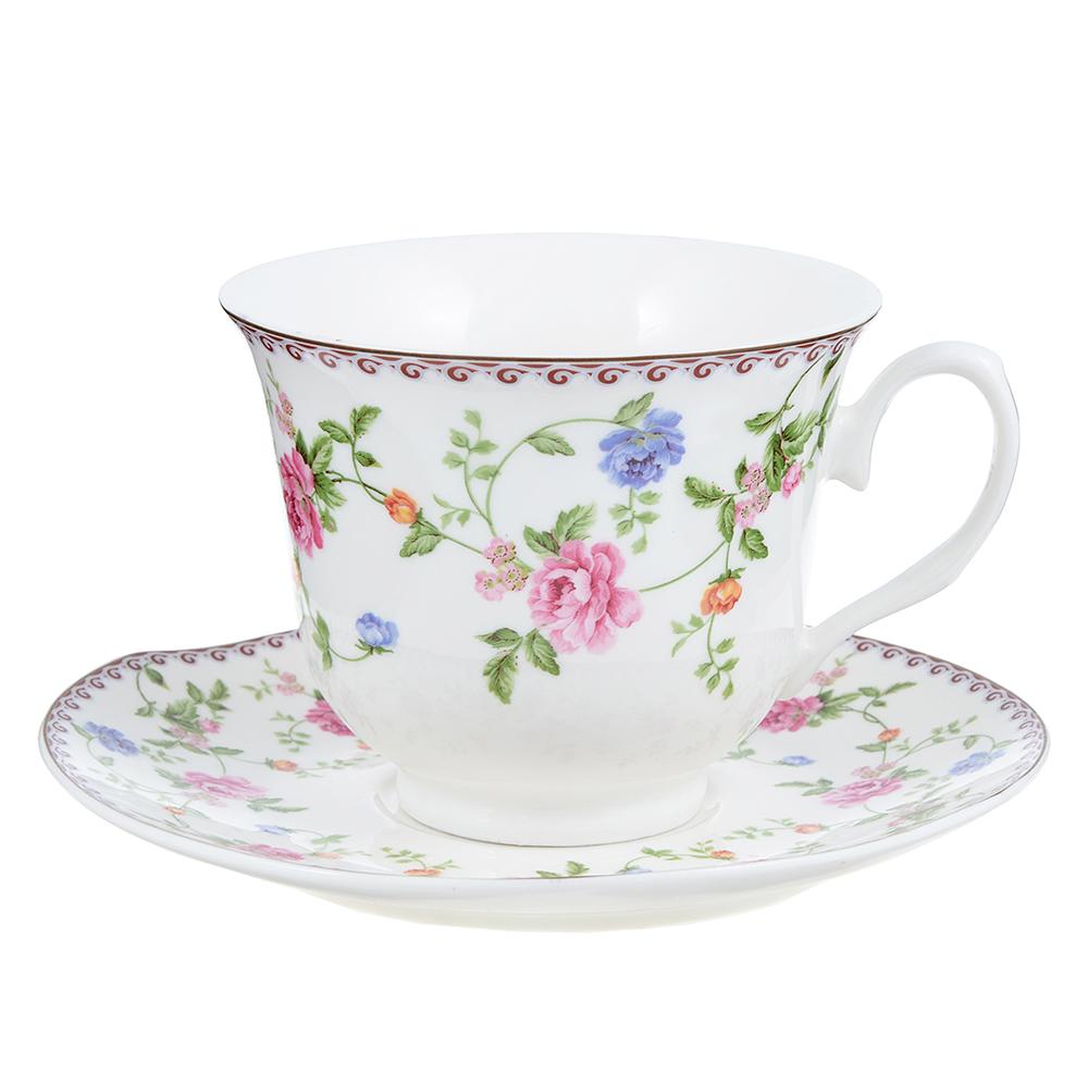 """Чайный сервиз 2 предмета, костяной фарфор, 240 мл, MILLIMI """"Утро"""""""