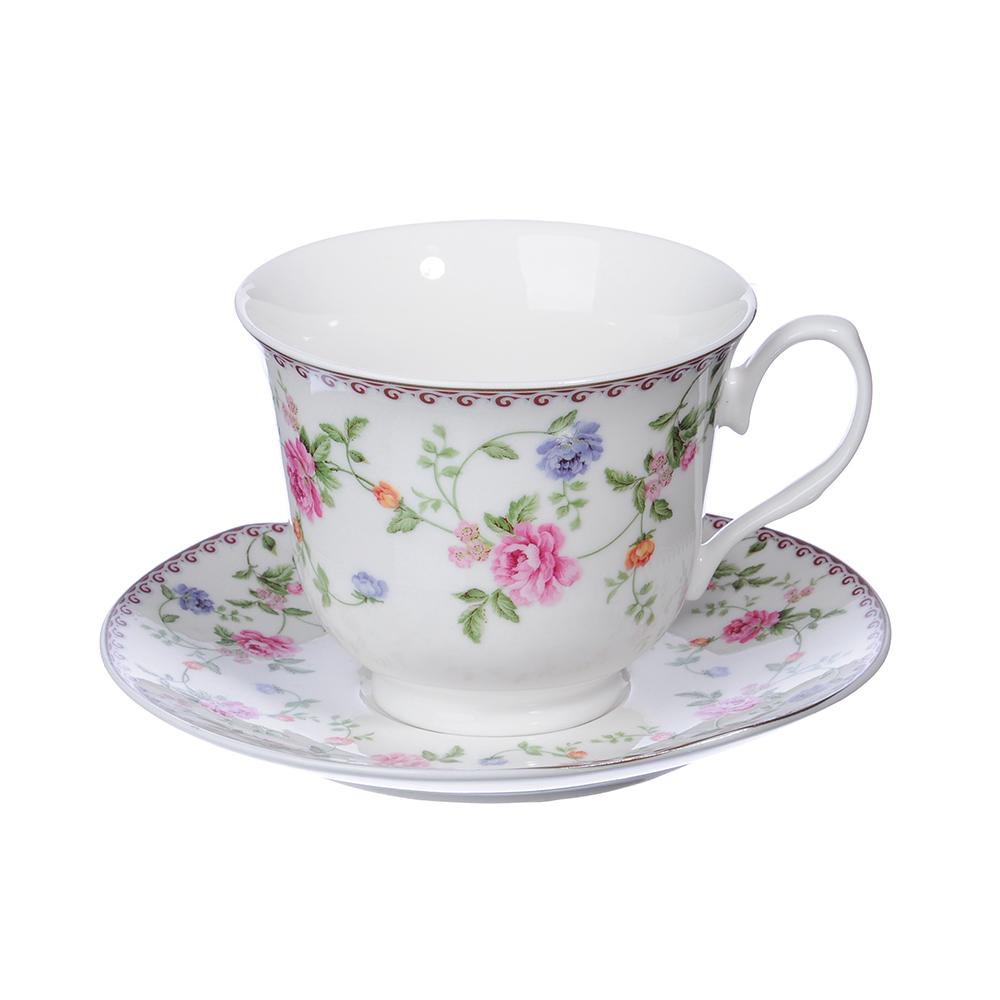 """Чайный сервиз 4 предмета, костяной фарфор, 240 мл, MILLIMI """"Утро"""""""