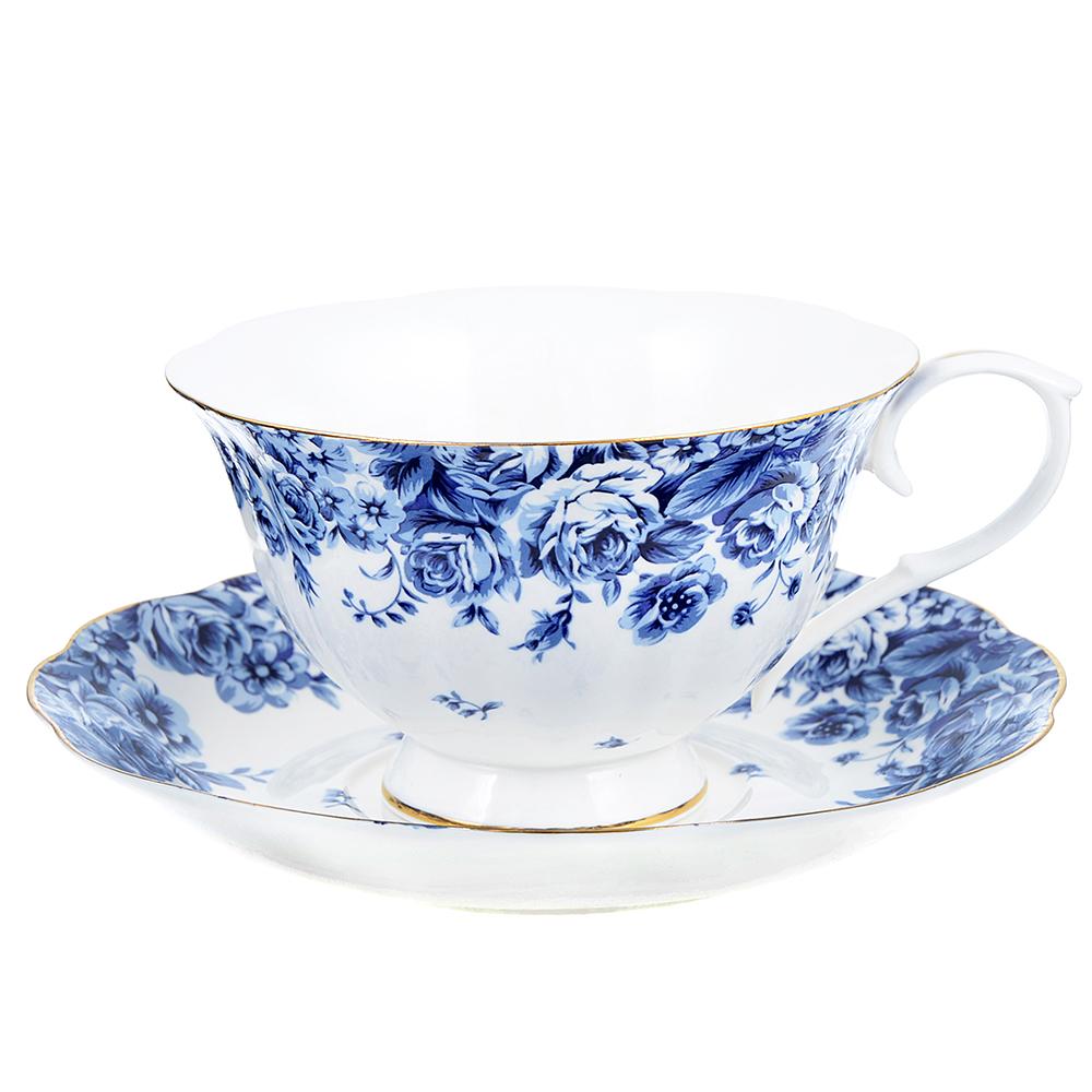 """Чайный сервиз 2 предмета, костяной фарфор, 270 мл, MILLIMI """"Ностальгия"""""""