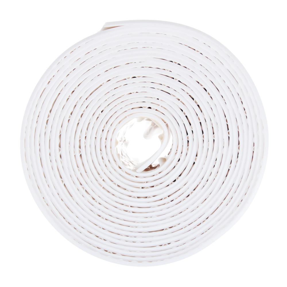 Лента бордюрная самоклеящаяся, полиэтилен, 60 ммх3,35 м, белая, ЕРМАК