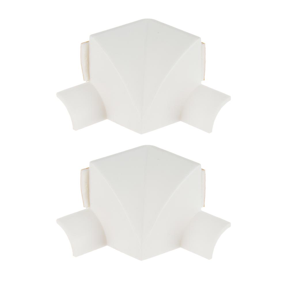Лента бордюрная самоклеящаяся фигурная + 2 уголка и заглушки, полиэтилен, белая, 38 ммх3,35 м, ЕРМАК