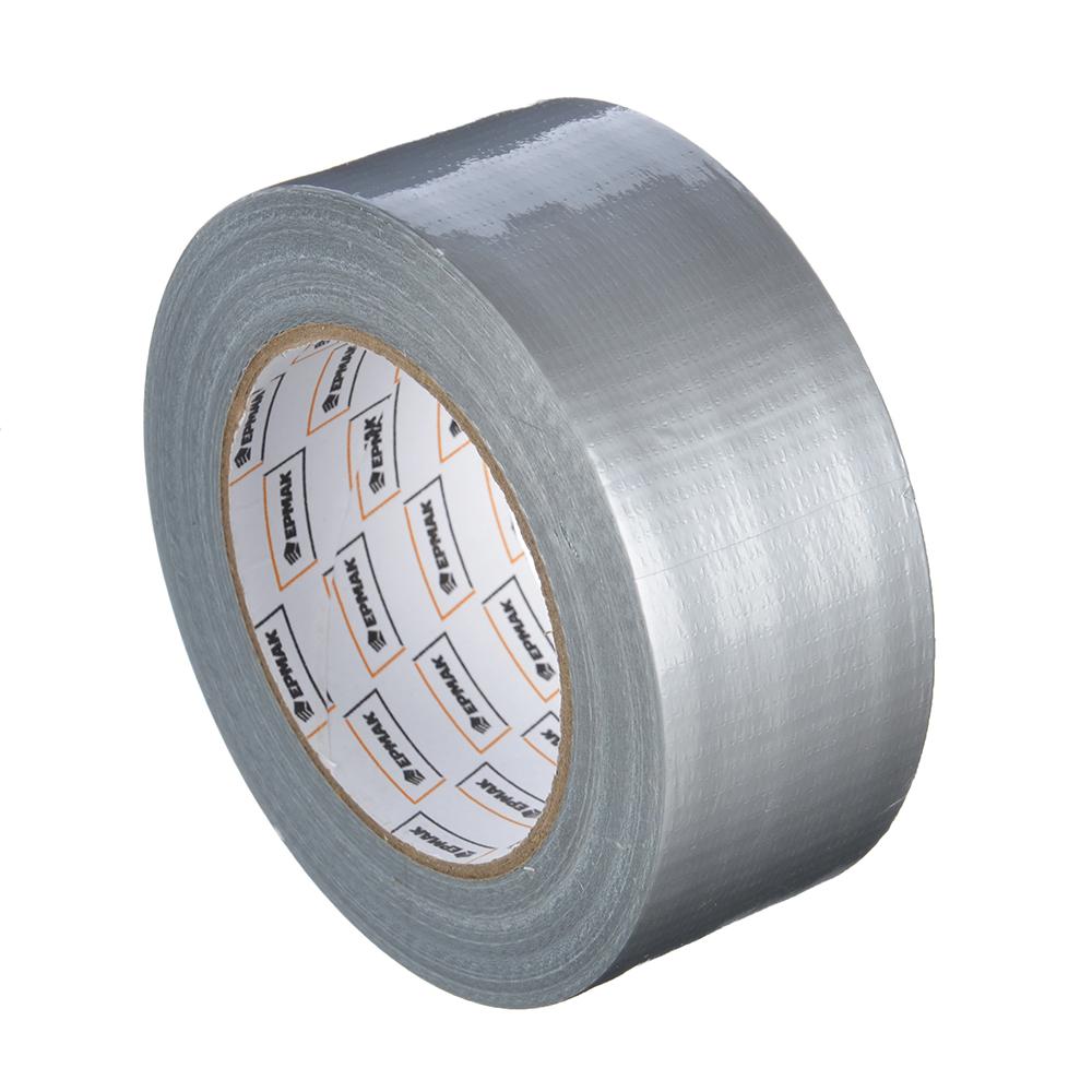 Лента клейкая армированная, 48 ммх40 м, серебряная, инд.упаковка, ЕРМАК