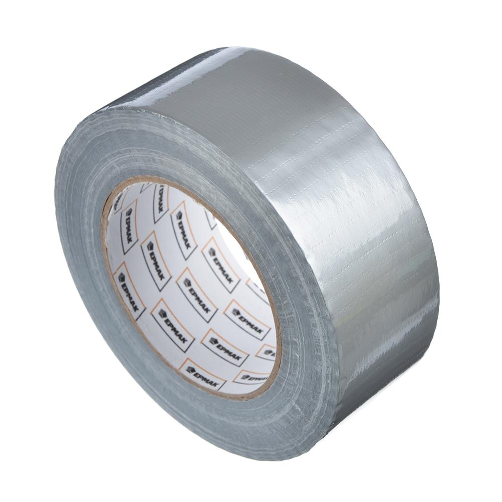 ЕРМАК Лента клейкая армированная серебряная 48мм х 50м, инд.упаковка