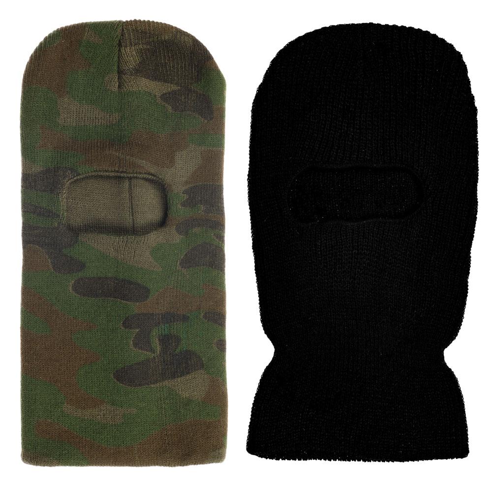 AZOR Шапка маска , одно отверстие , камуфляж, 100% акрил