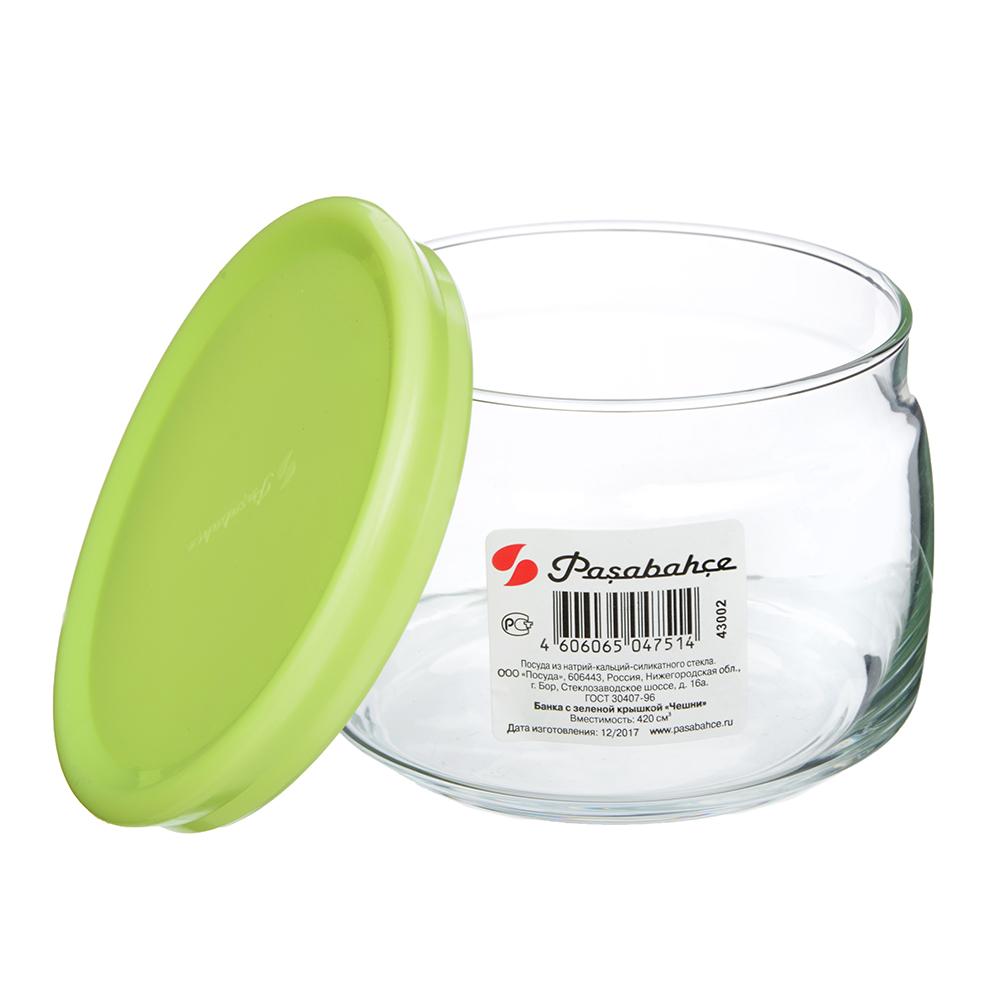 PASABAHCE Банка стеклянная 420мл Cesni с пласт. крышкой, 43002SLB