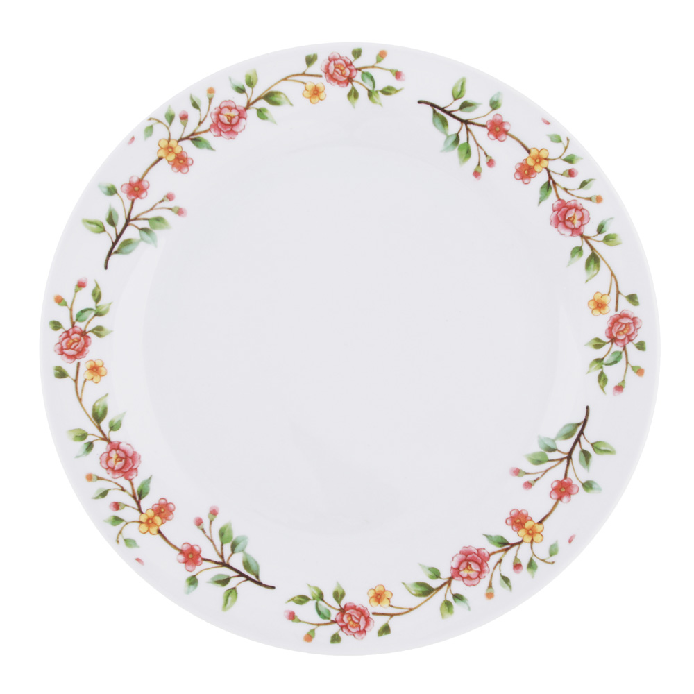 """Тарелка подстановочная фарфоровая, 23 см, """"Розовый венок"""""""