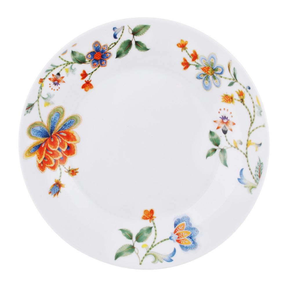 """Тарелка десертная, фарфор, 19 см, """"Волшебный цветок"""""""