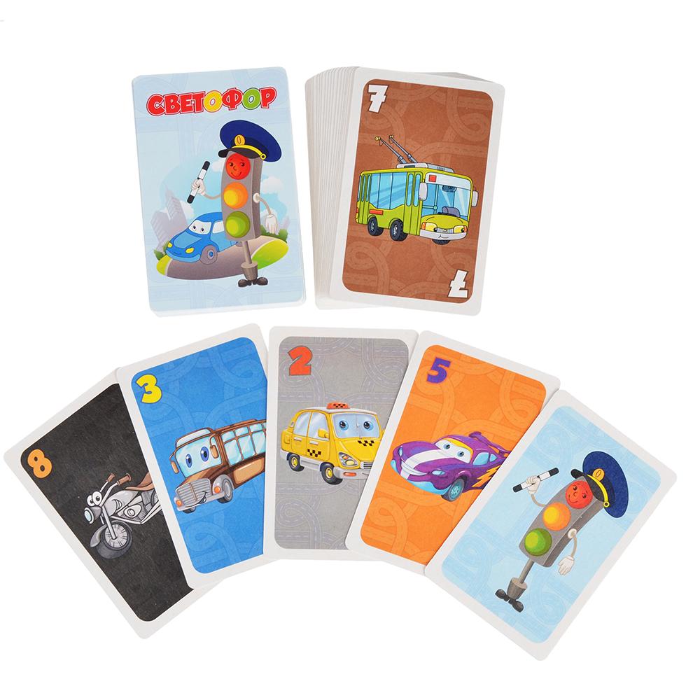 РЫЖИЙ КОТ Карточная игра, 54-55 карт, 6х9х2 см, 4 дизайна