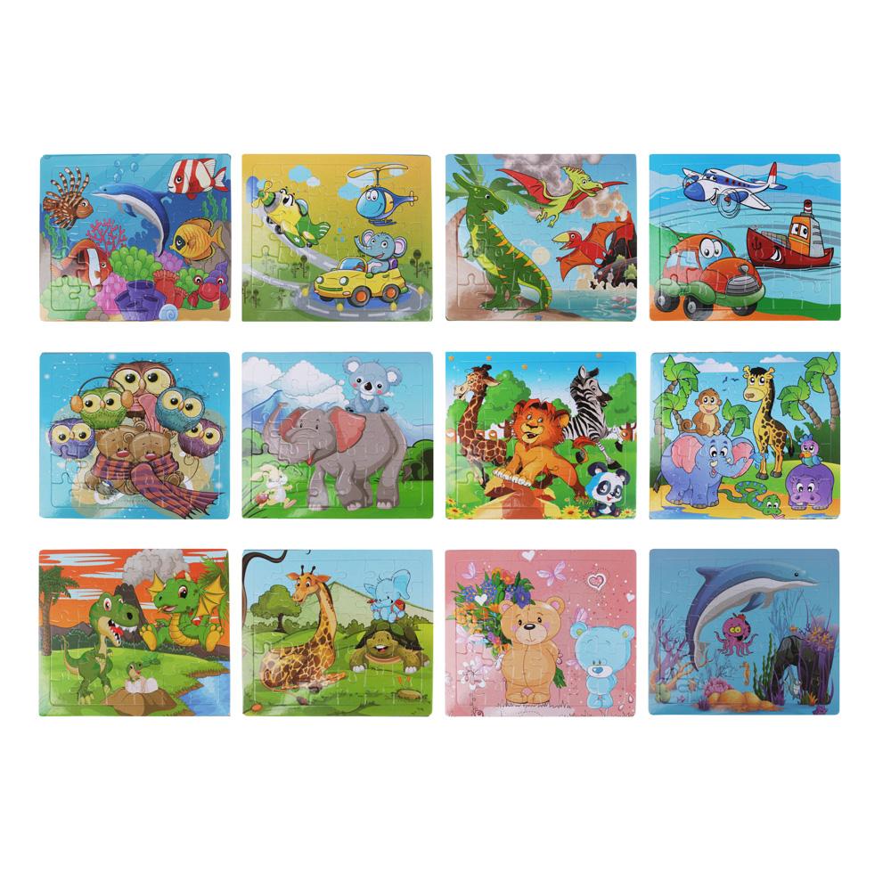 Пазл + рамка для рисования, маркер, картон, 19х17,2х0,5 см, 6-12 дизайнов