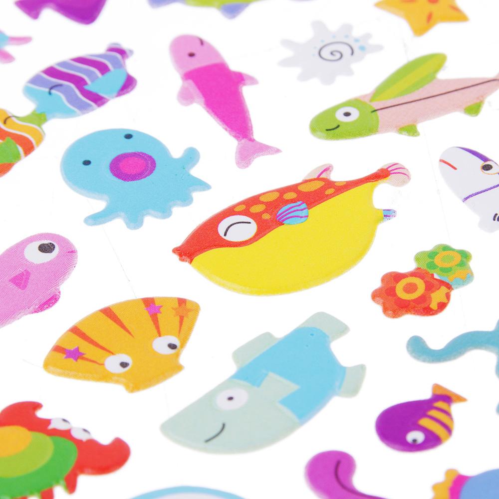 Набор детских декоративных наклеек, картон, 24х10,5см, 6-8 дизайнов