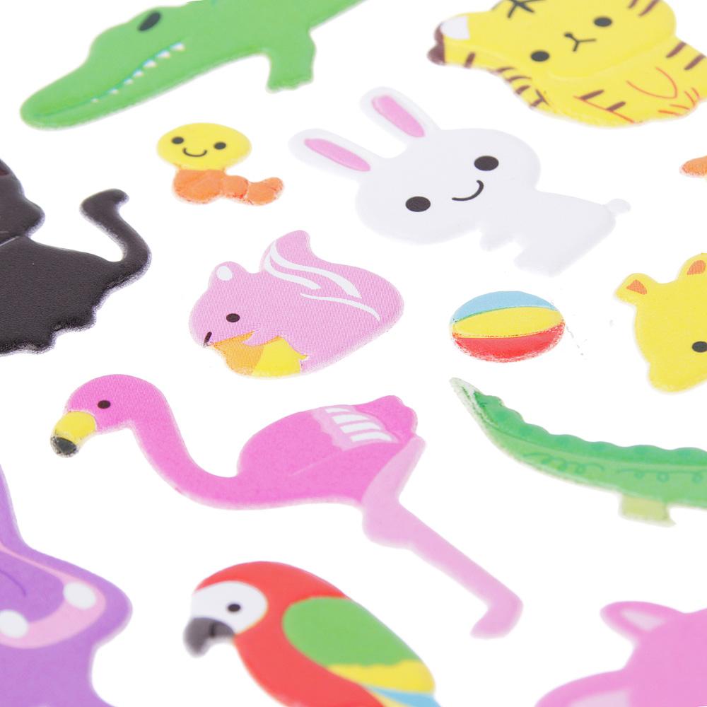 Набор детских декоративных наклеек ассорти, 30,5х13,5см, 10-12 дизайнов