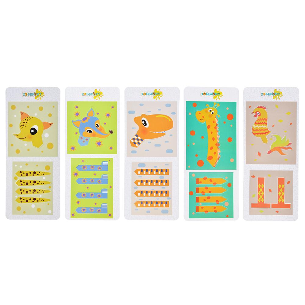"""ХОББИХИТ Мини набор для творчества """"Животные"""", тесто для лепки 22г, 4-6 дизайнов"""