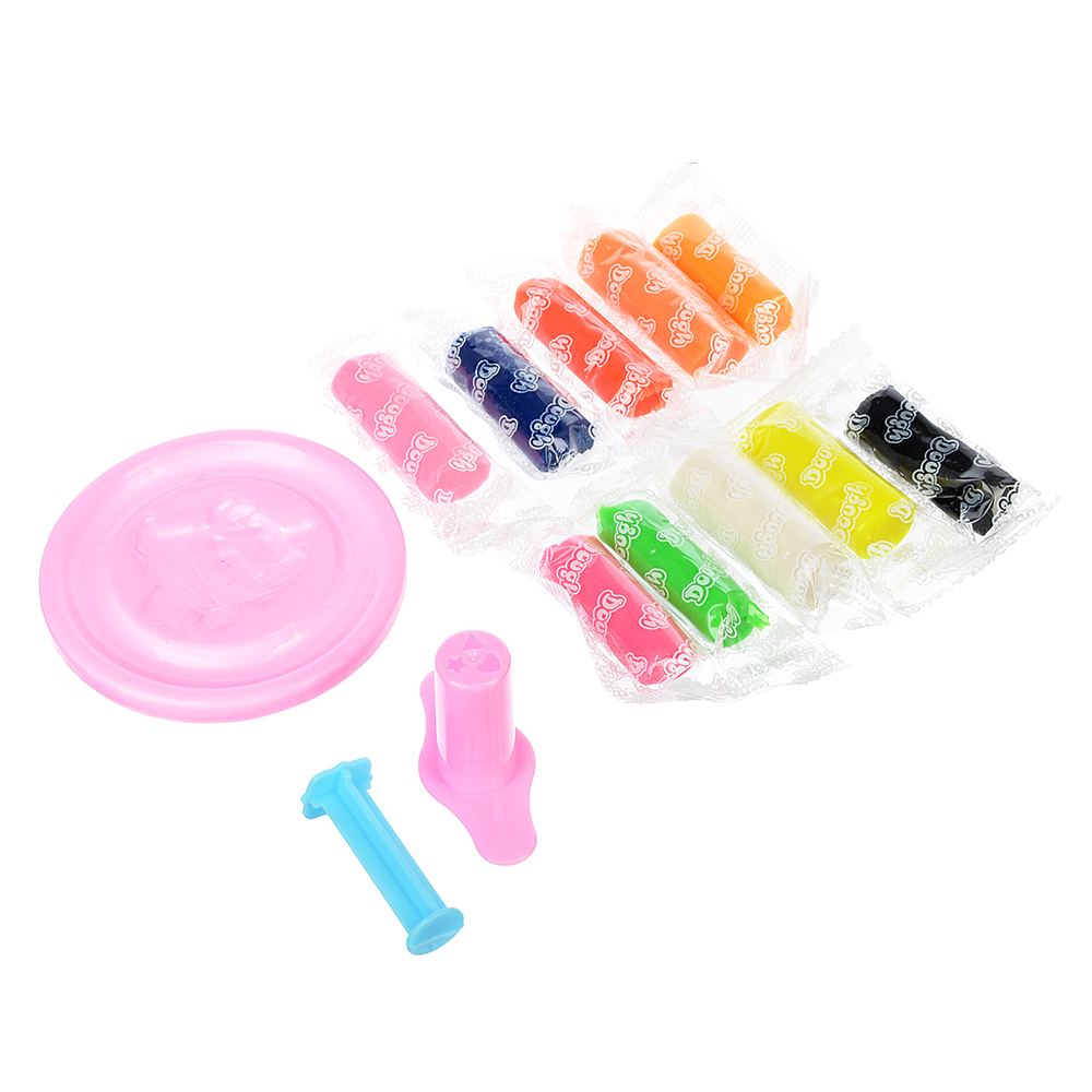 Набор для творчества, тесто для лепки 60г, 10 цветов, пластик 1пр, 2 цвета