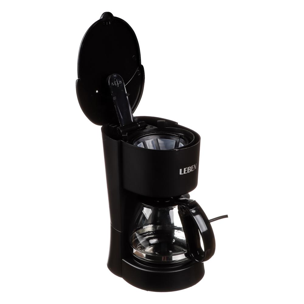 Кофеварка капельная LEBEN 650 Вт, на 6 чашек, колба 0,6 л
