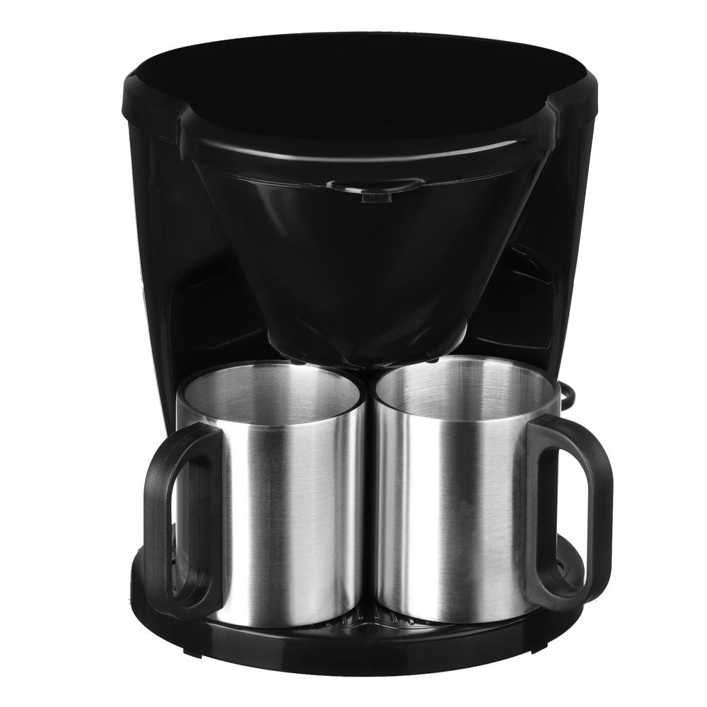 Кофеварка капельная LEBEN 500 Вт, две керамические чашки 0,3 л