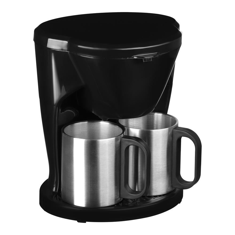 LEBEN Кофеварка капельная 500Вт, две керамические чашки 0,3л