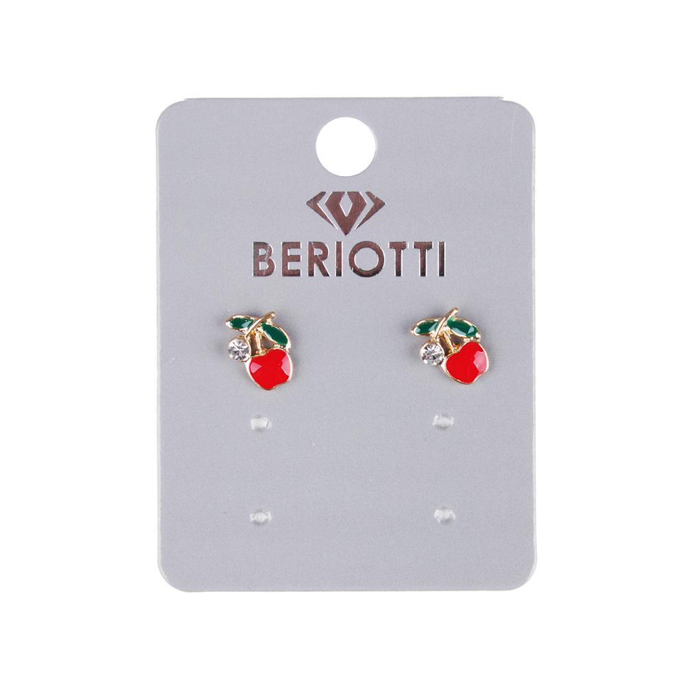 BERIOTTI Серьги-гвоздики, биж.сплав, 1-1,2см, 6 дизайнов, 7+, БЖ18-02