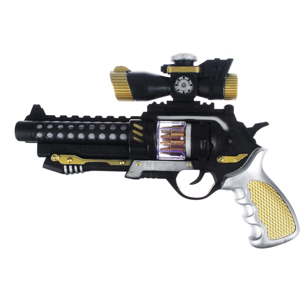 Пистолет на батарейках с вибрацией, свет, звук, пластик, 29х5,5х8,5см