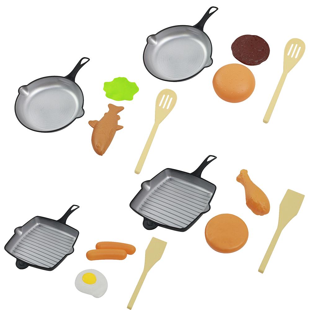 """Набор игровой """"Сковорода с продуктами"""", пластик, 12,5х22х1,5см"""