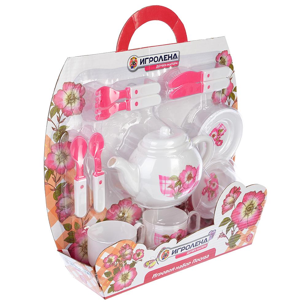 """Набор игровой """"Посуда"""", пластик, 33х39х8см, 3 дизайна"""