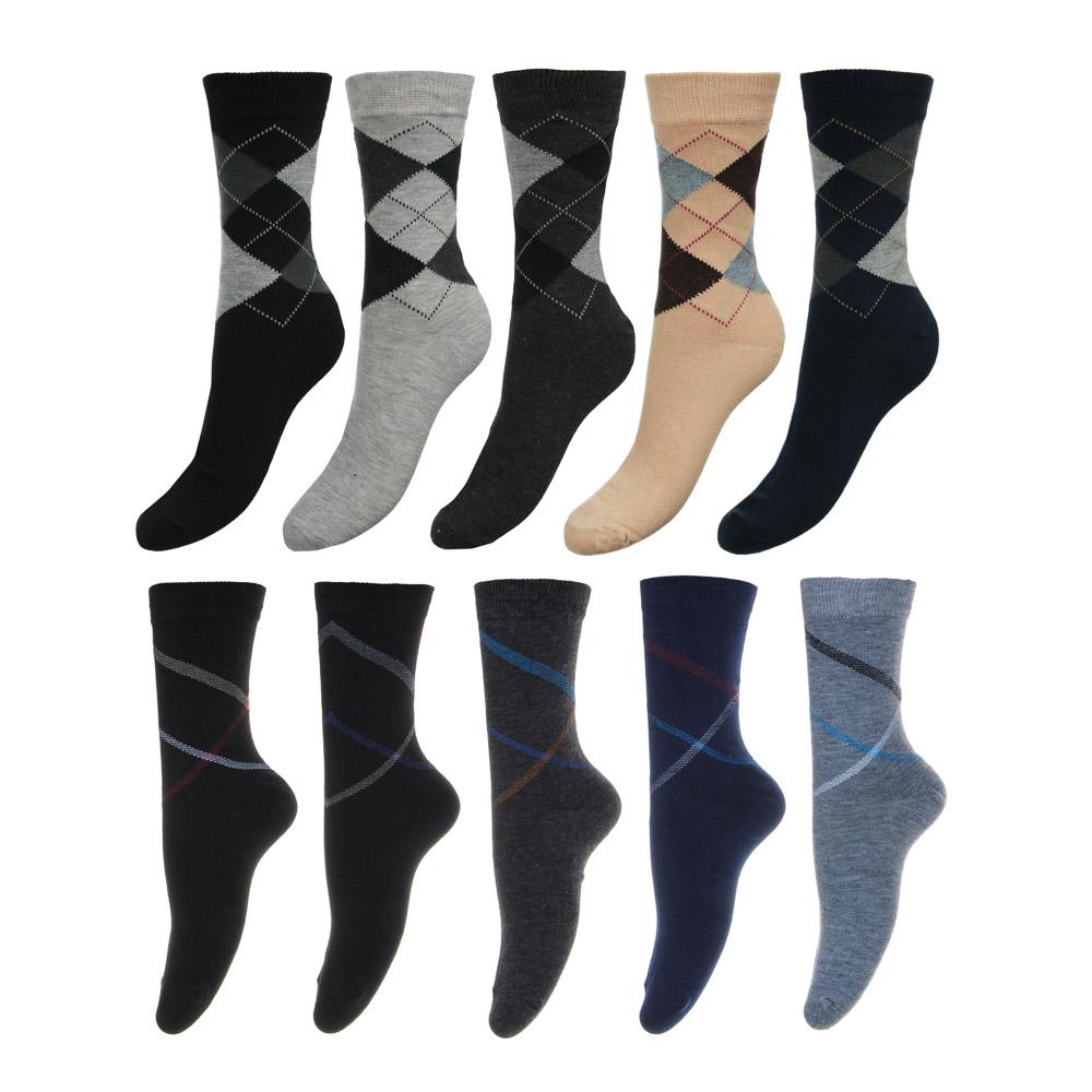 Носки мужские, 85% хлопок, 10% полиамид, 5% спандекс, 25-29см, 5 цветов