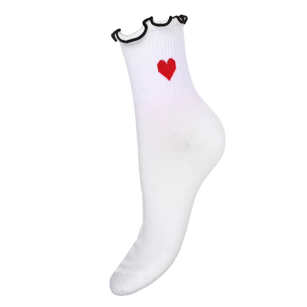 Носки женские с декором, 85%хлопок, 15%полиамид, пластик, 22-26см, 4 цвета