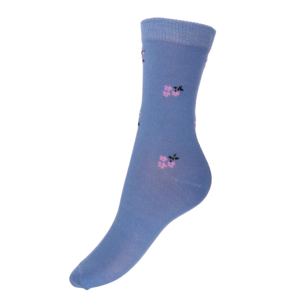 Носки женские, 85%хлопок, 15%полиамид, 22-26см, 2 дизайна, 8 цветов