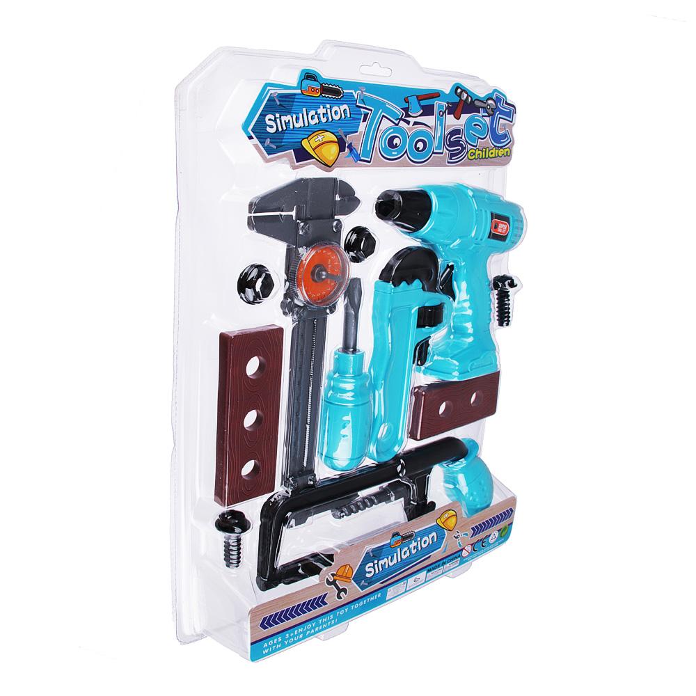 Набор инструментов на блистере, пластик, 10 предметов, 31х44х4,5см, 2 дизайна