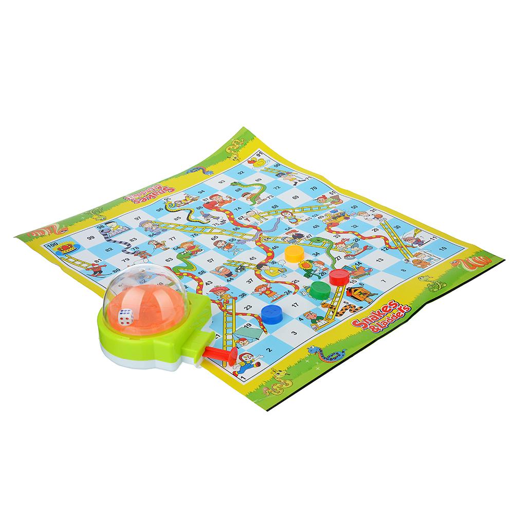ИГРОЛЕНД Настольная игра с кубиком запускалкой, пластик, 8,5х27х7см, 3 дизайна