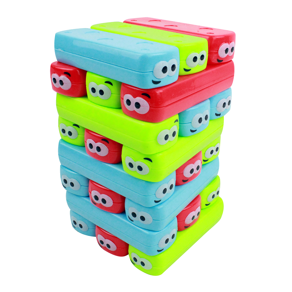 """Настольная игра """"Весёлые кирпичики"""", 24 детали, пластик, 16х10х10см картонная коробка, 3+"""