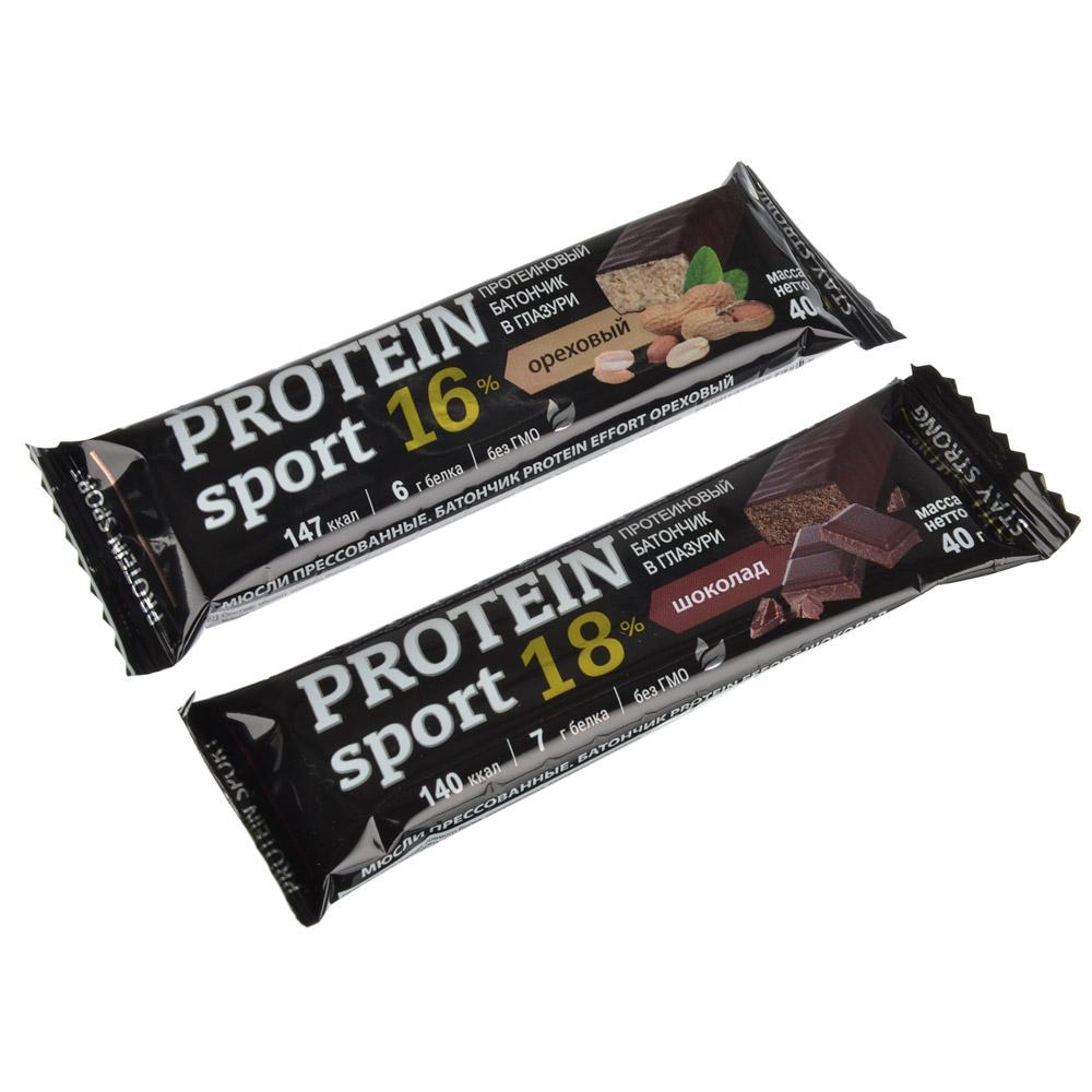 Батончик protein sport, шоколадный, 40 гр
