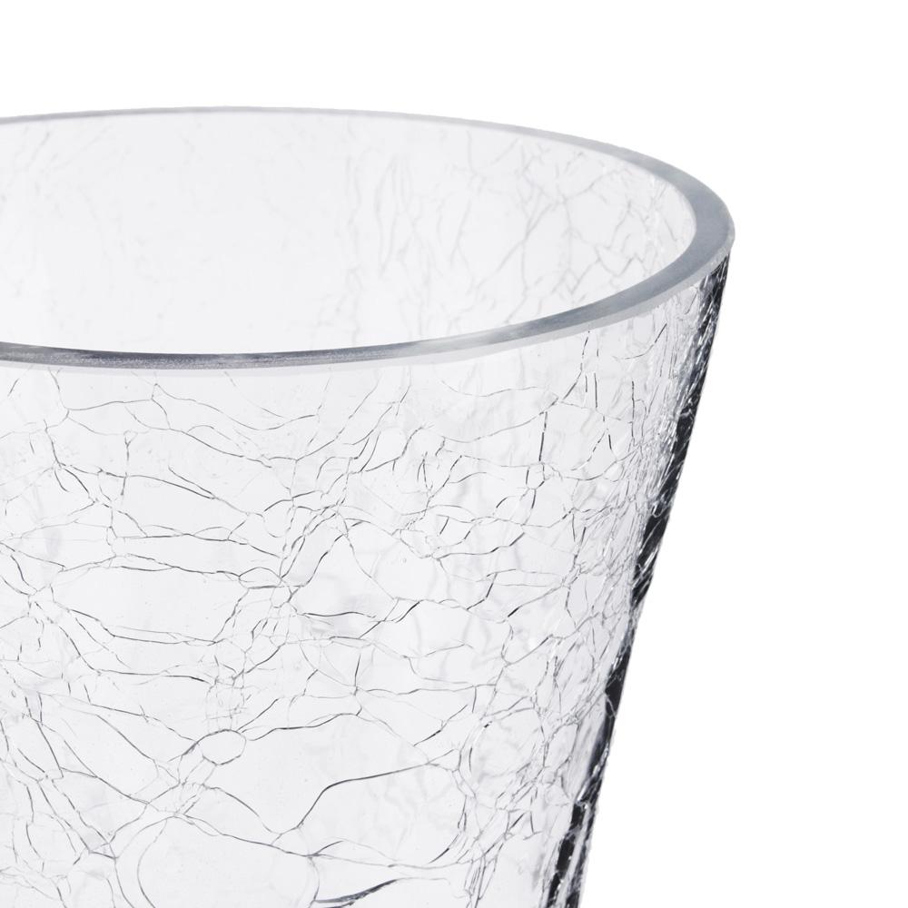 Ваза стеклянная с эффектом битого стекла, 24,5х13 см