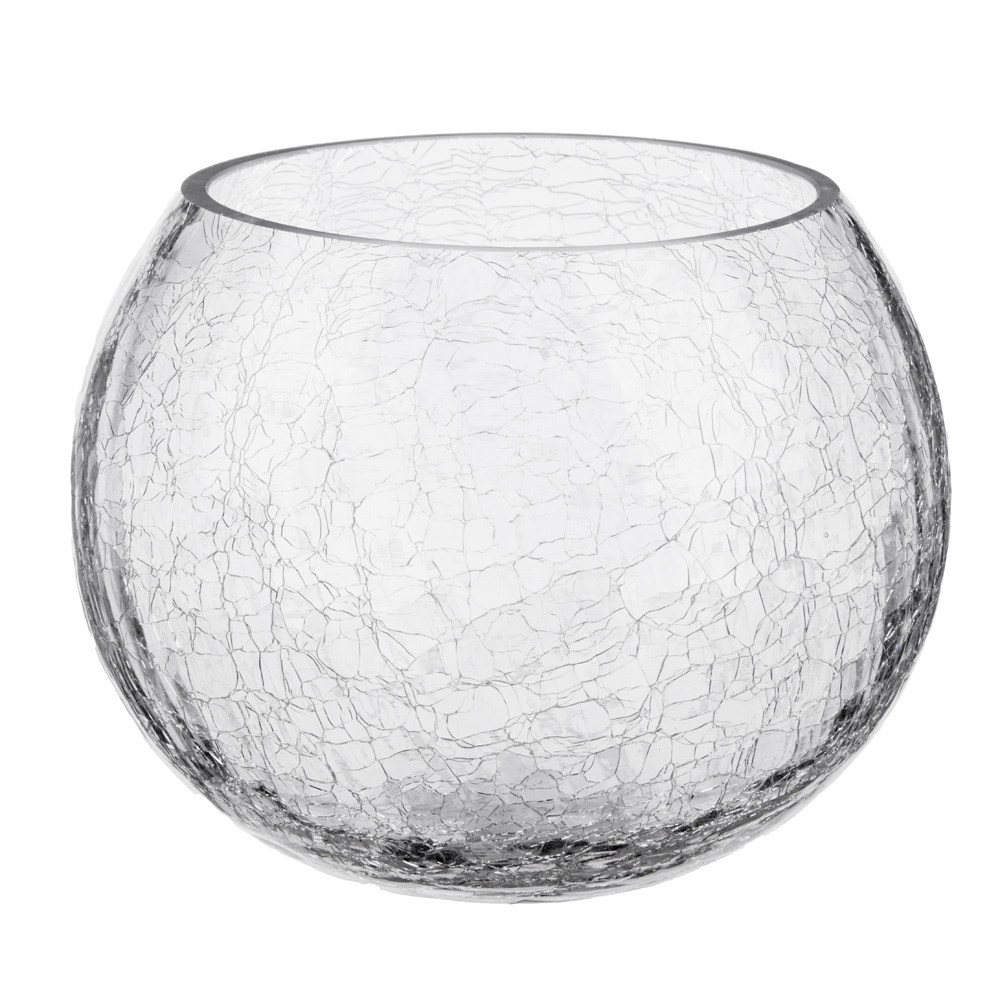 Ваза стеклянная с эффектом битого стекла, 12х14 см