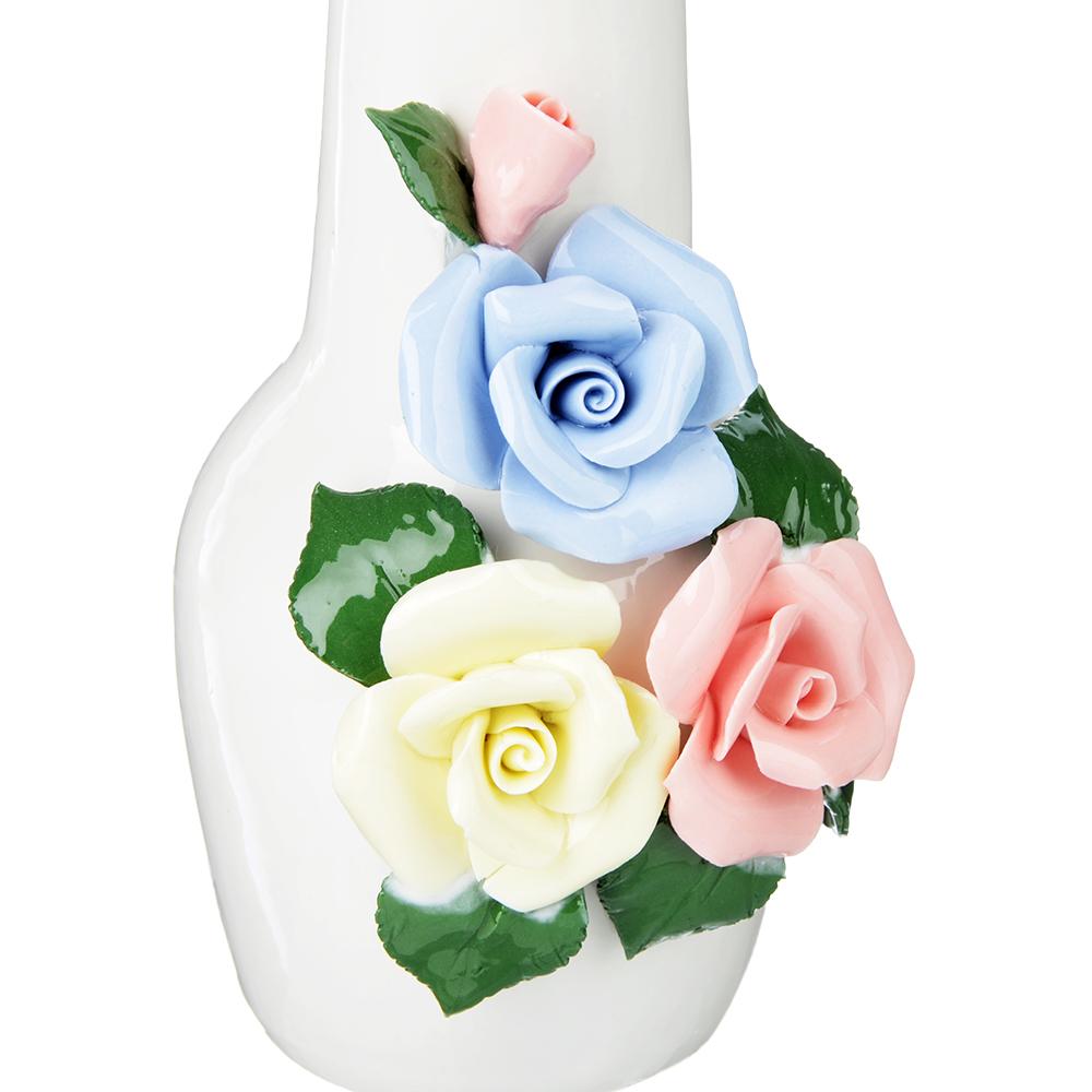 Ваза керамическая с цветами, 18х9 см, 2 дизайна