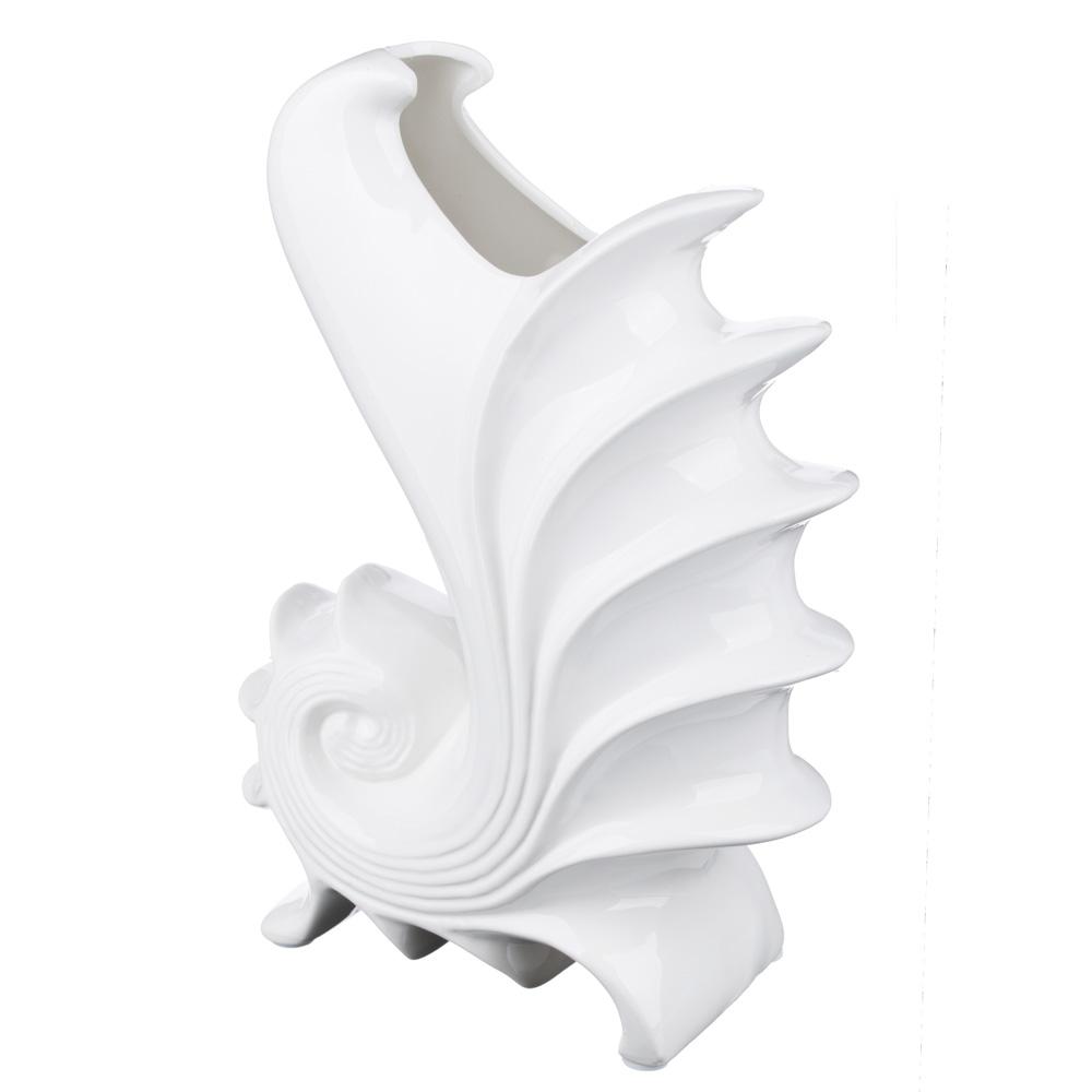 Ваза декоративная керамическая фигурная, 26х18х10,5 см
