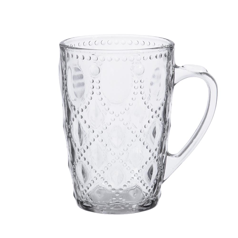"""Кружка стеклянная 300 мл,2 дизайна, """"Чайная-1"""""""