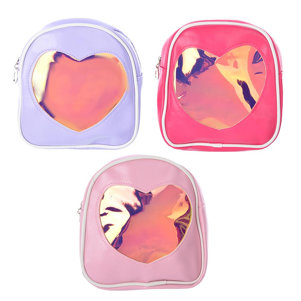 Рюкзак детский, ПВХ, сплав, 17х17,5х6,5 см, 3 цвета, PAVO