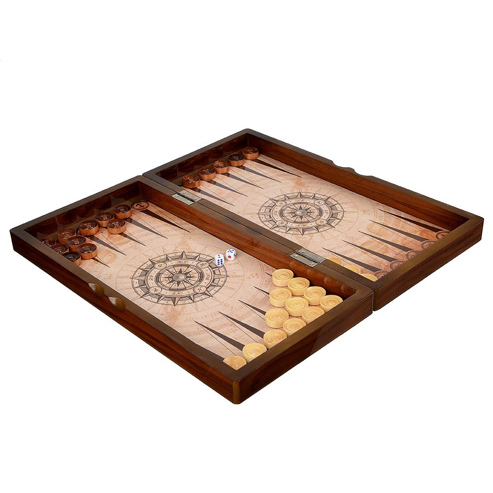 Нарды в подарочной коробке, 40х20х6,3см, дерево, дизайн морской