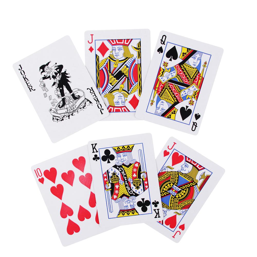 Набор для игры в покер, 7х4,2х14 см, 24 фишки + дилер+ карты, пластик, бумага
