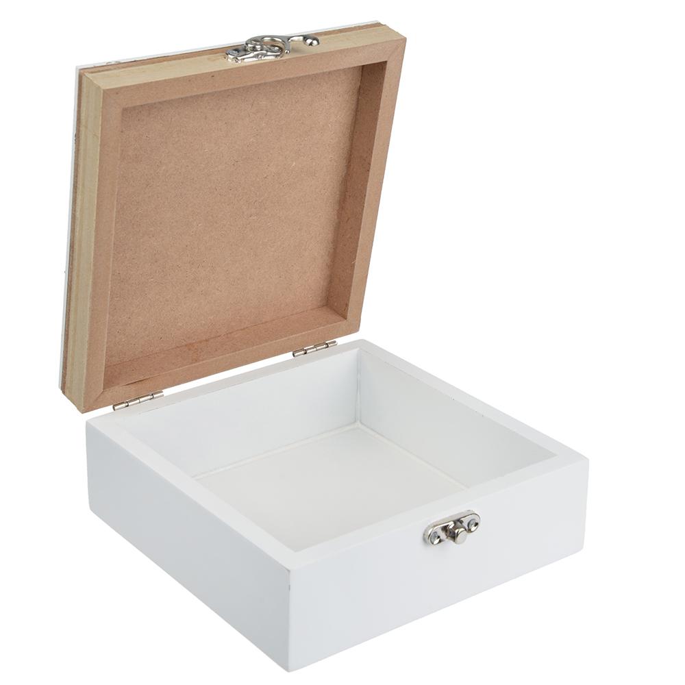Шкатулка для украшений 15х15х6,5 см, МДФ
