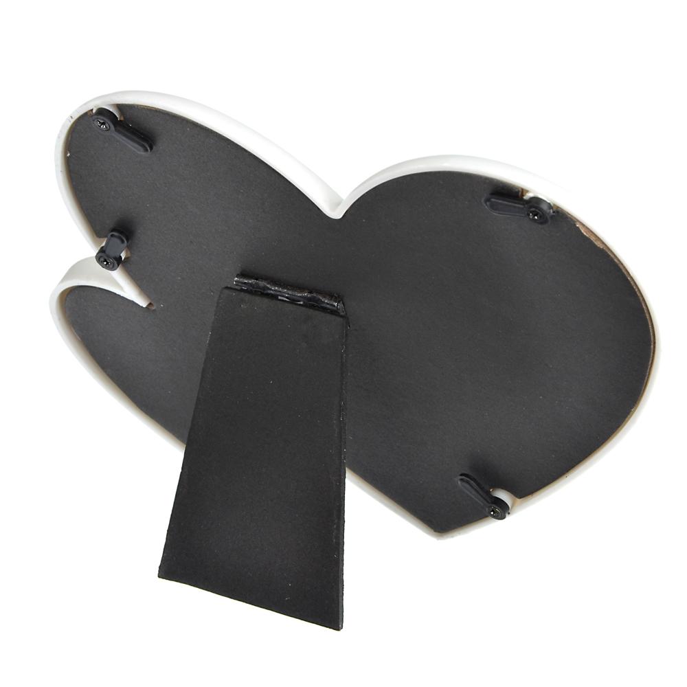 Фоторамка в виде сердечек, 16,5х16 см, пластик